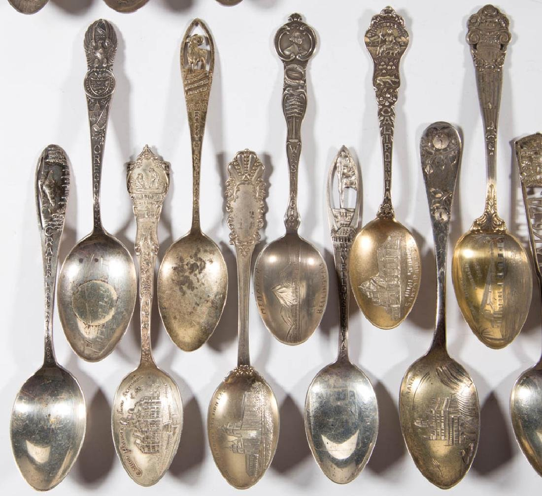 WESTERN STATES STERLING SILVER SOUVENIR SPOONS, LOT OF - 4