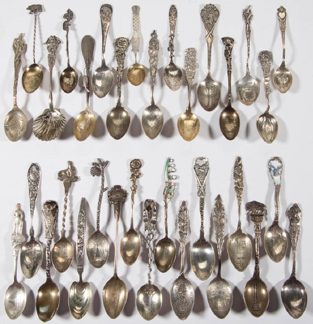 ASSORTED FIGURAL SPORTING / NATURE MOTIF STERLING