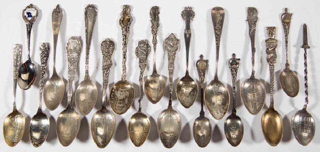 ASSORTED FIGURAL AND OTHER STERLING SILVER SOUVENIR - 2