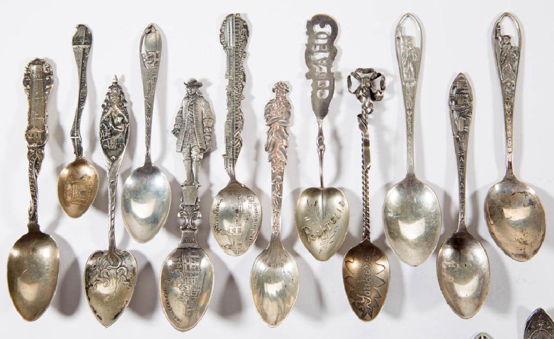 ASSORTED FIGURAL AND OTHER STERLING SILVER SOUVENIR AND - 2