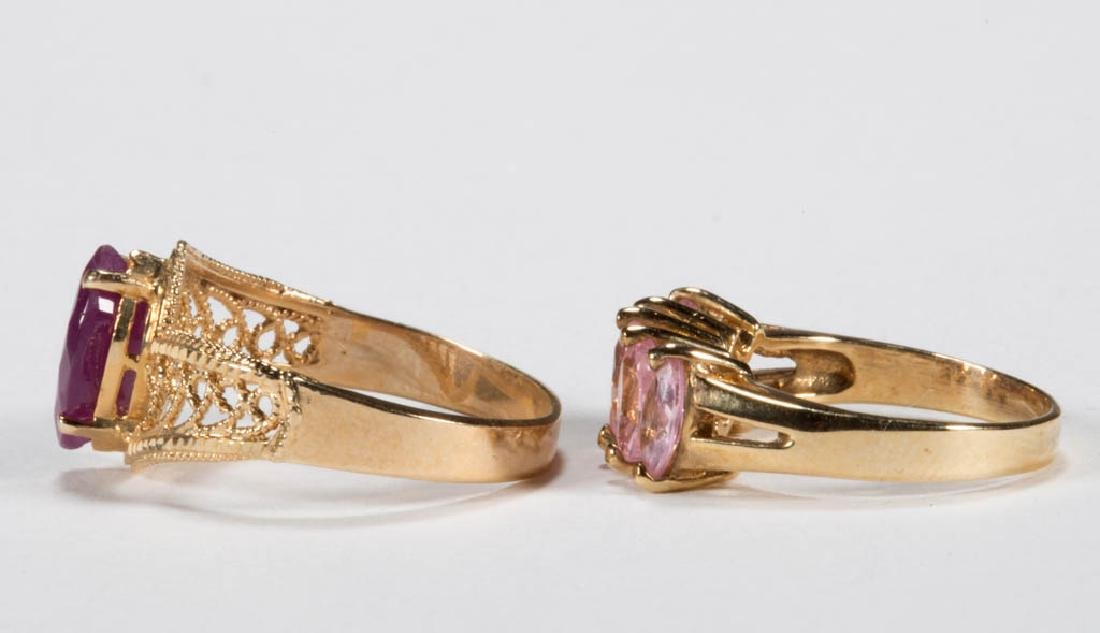 VINTAGE 10K GOLD LADY'S RINGS, LOT OF TWO - 2