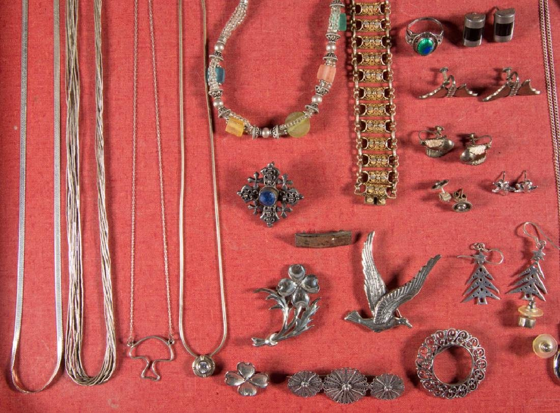 ASSORTED STERLING SILVER AND OTHER COSTUME JEWELRY, LOT - 2