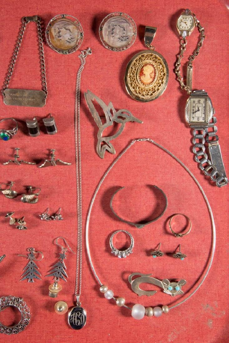 ASSORTED STERLING SILVER AND OTHER COSTUME JEWELRY, LOT - 3
