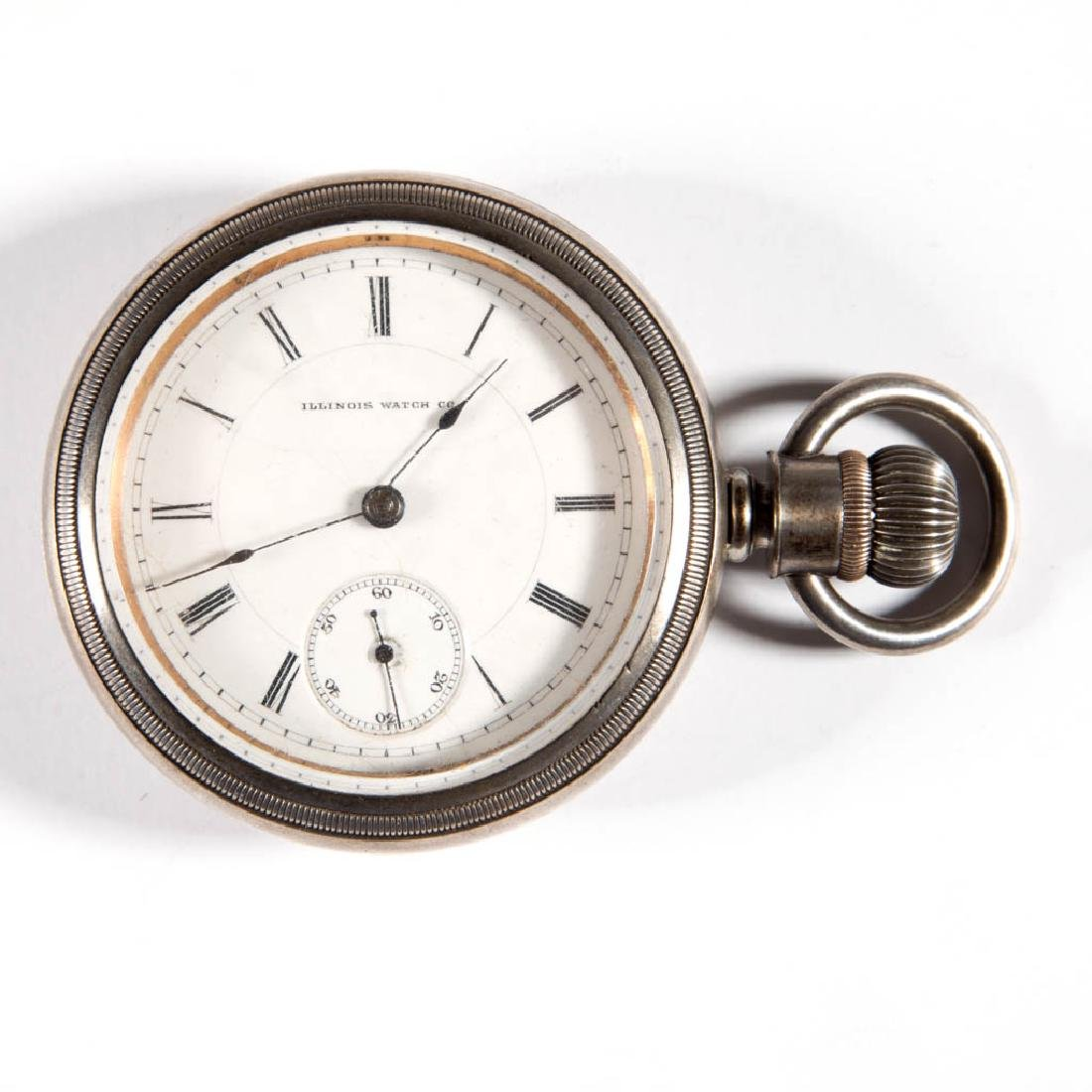 ILLINOIS WATCH CO. 11-JEWEL MODEL 2 MAN'S POCKET WATCH