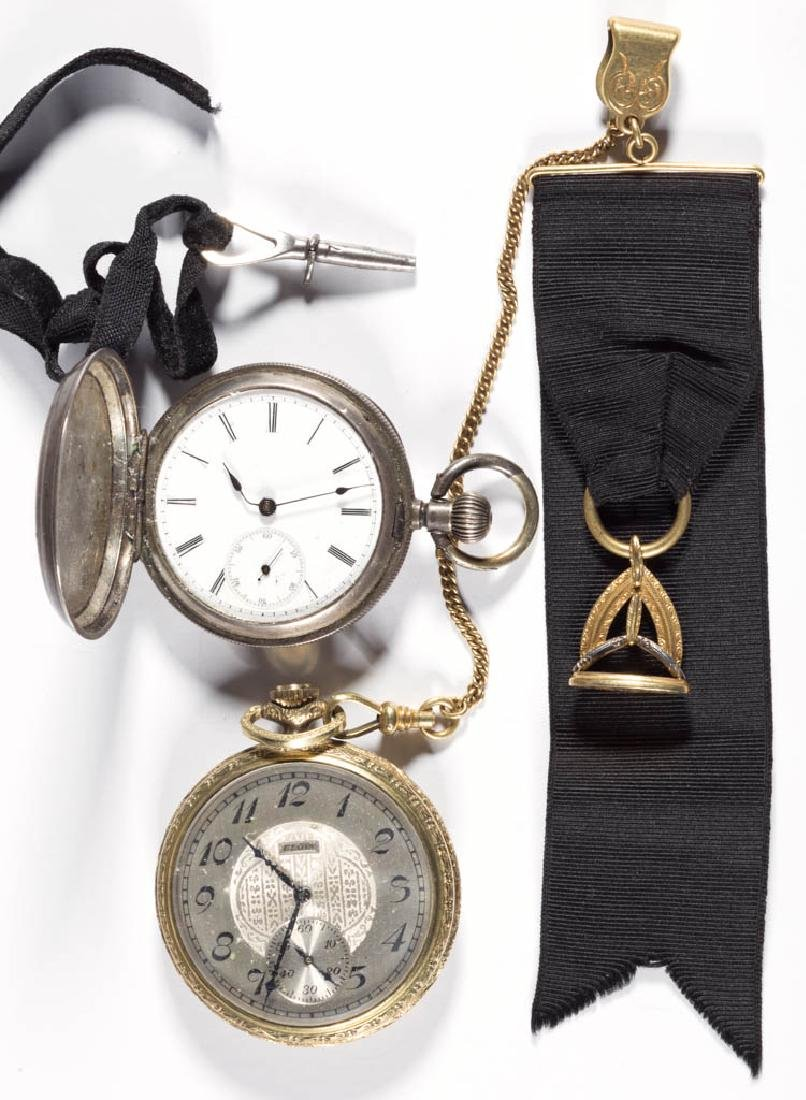 ASSORTED MAN'S POCKET WATCHES, LOT OF TWO