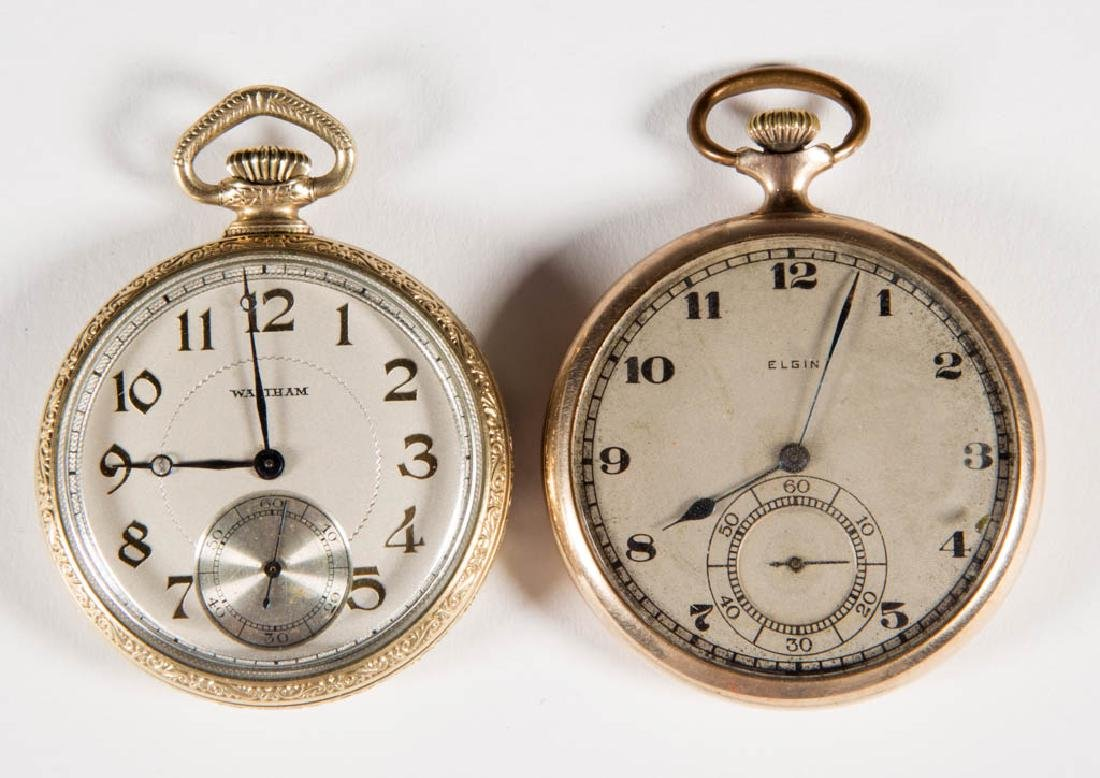 ASSORTED AMERICAN MAN'S POCKET WATCHES, LOT OF TWO