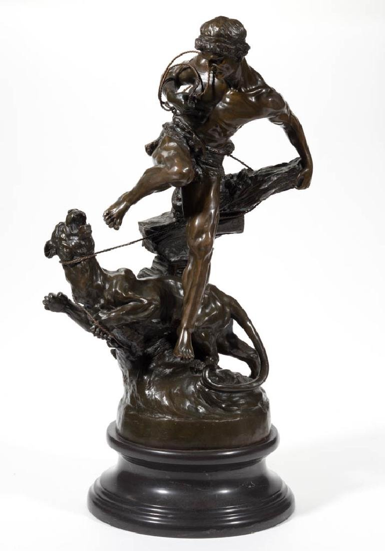 CLASSICAL-STYLE BRONZE FIGURAL GROUP