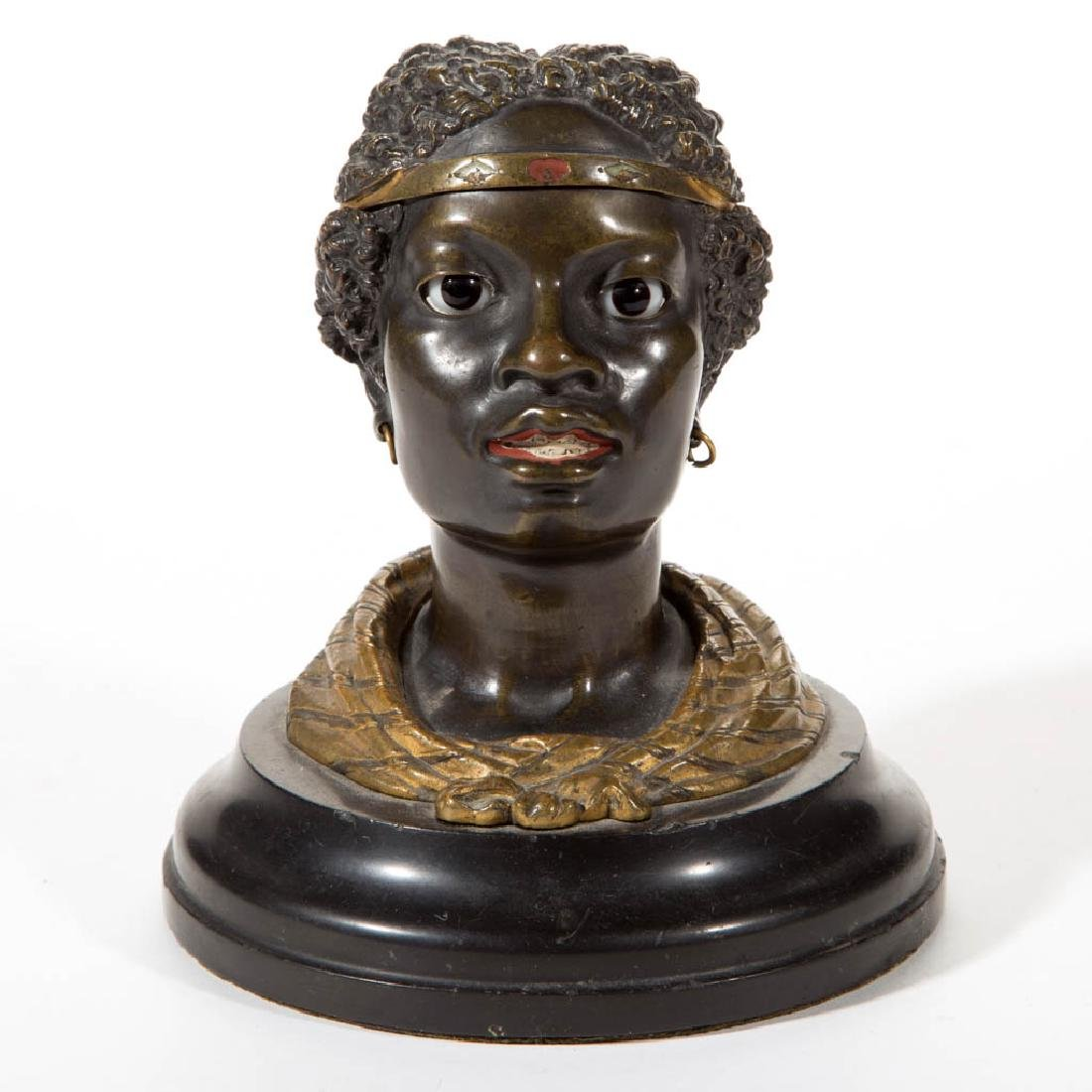 COLD-PAINTED VIENNA BRONZE INCENSE BURNER