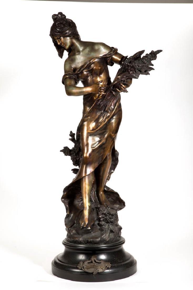 AFTER AUGUSTE MOREAU (FRENCH, 1834-1917) CAST-ZINC