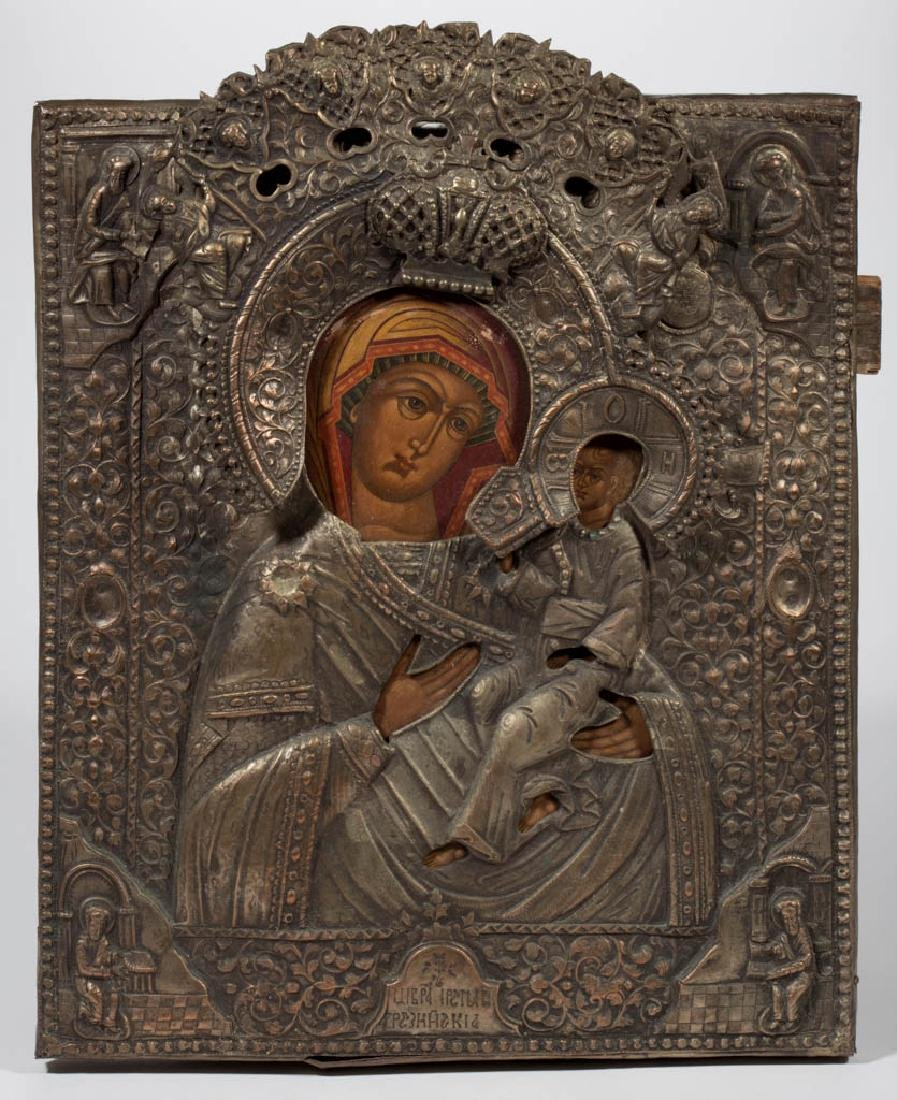 MADONNA AND CHILD RUSSIAN ICON