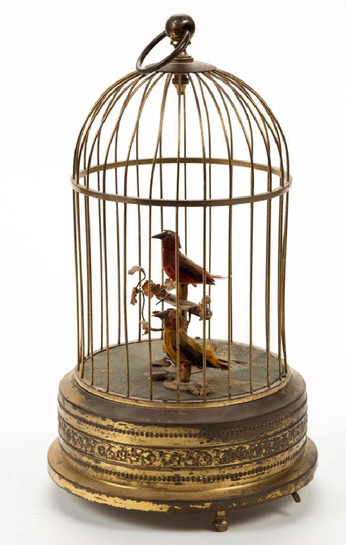 AUSTRIAN WIND-UP BIRD CAGE MUSICAL AUTOMATON