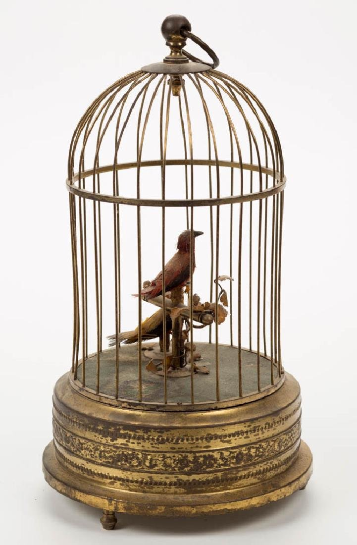 AUSTRIAN WIND-UP BIRD CAGE MUSICAL AUTOMATON - 3