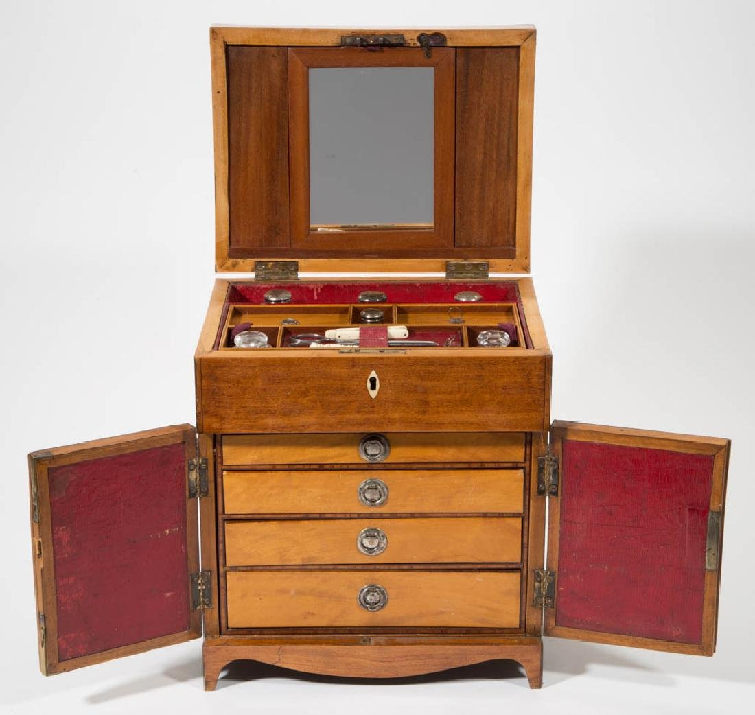 BRITISH INLAID SATINWOOD DRESSING CHEST - 2
