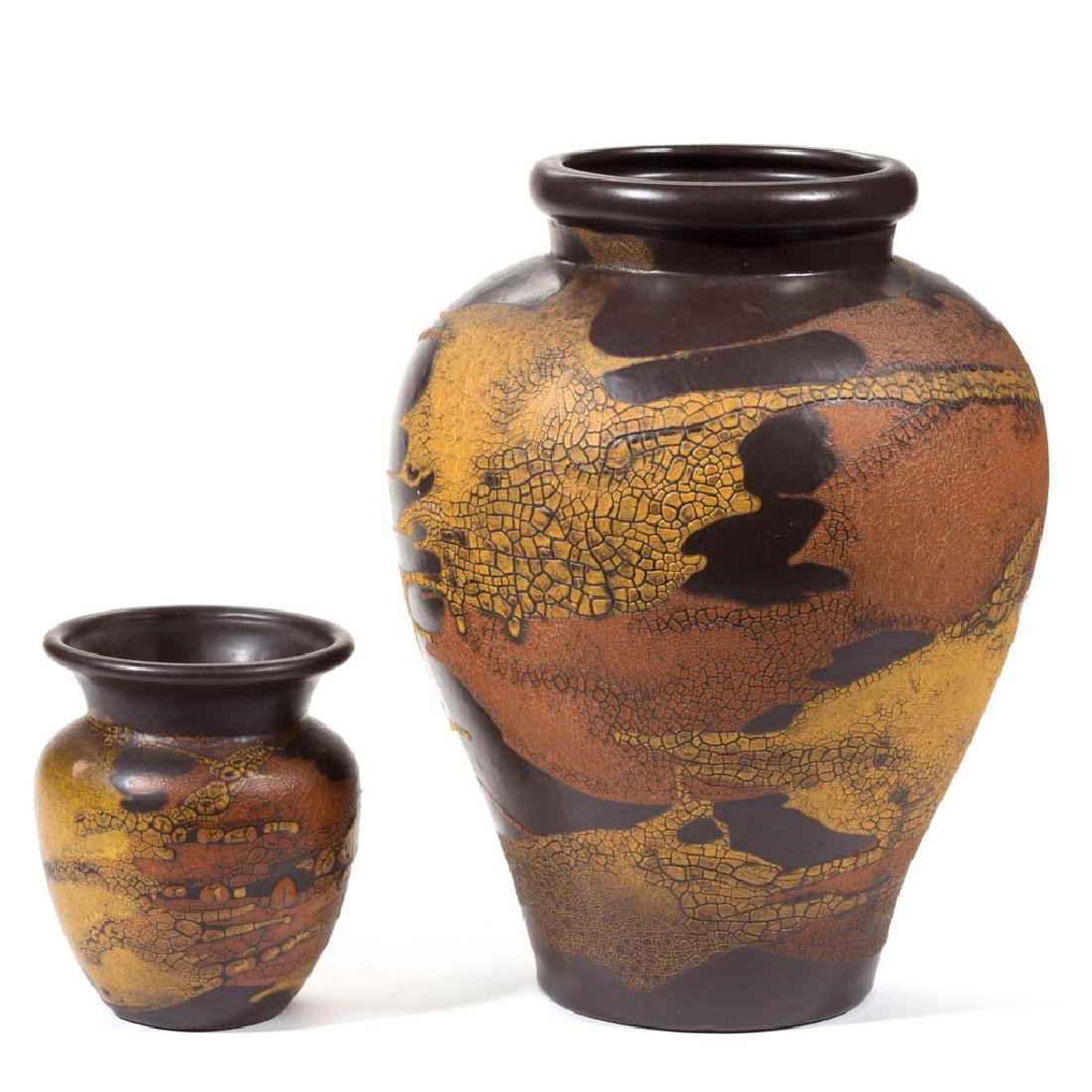 ROYAL HAEGER EARTH WRAP MID-CENTURY POTTERY VASES, LOT