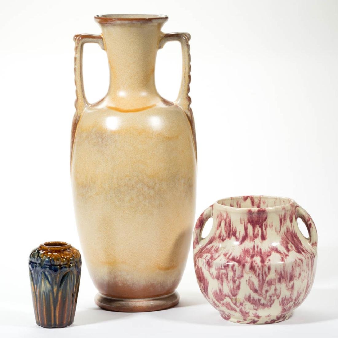 AMERICAN ART POTTERY ARTICLES, LOT OF THREE
