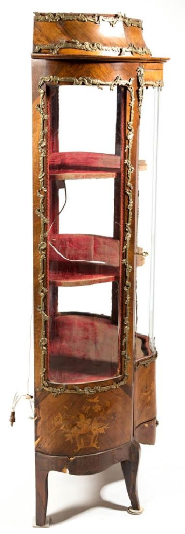 CONTINENTAL LOUIS XV-STYLE MARQUETRY-INLAID CURIO - 3