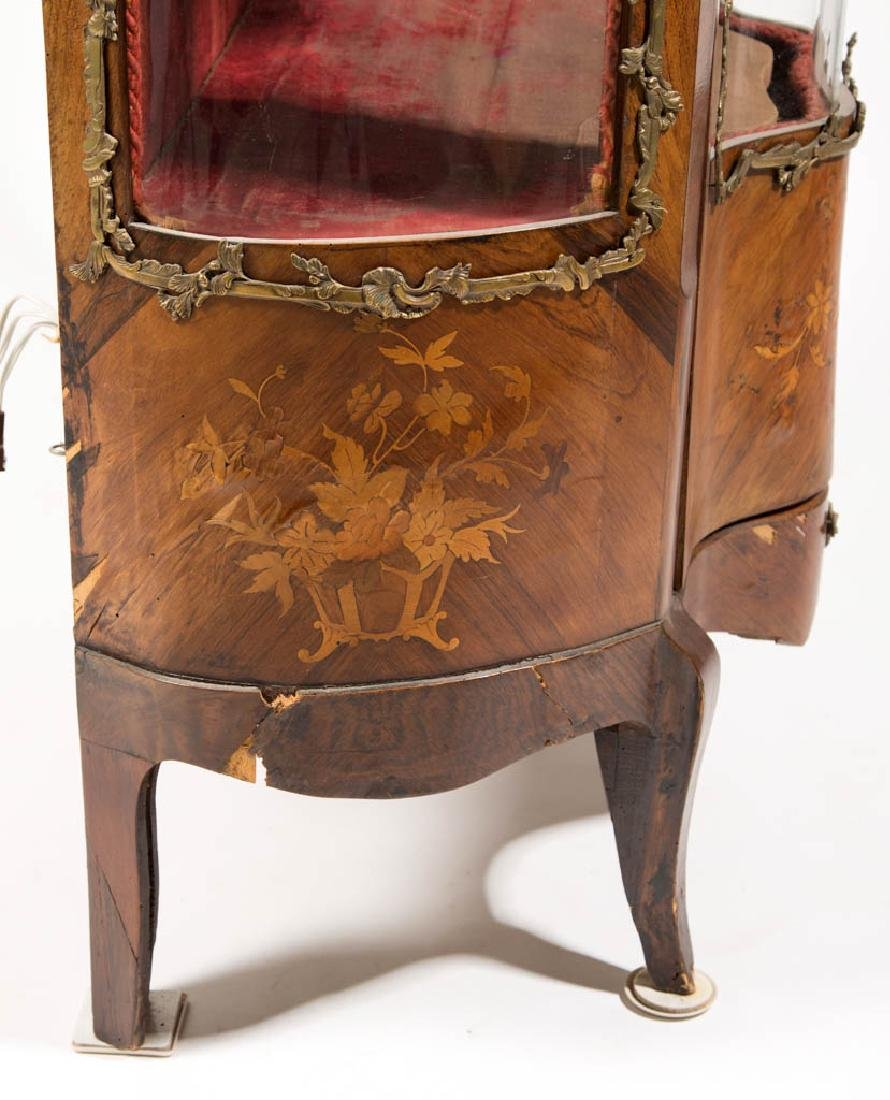 CONTINENTAL LOUIS XV-STYLE MARQUETRY-INLAID CURIO - 4