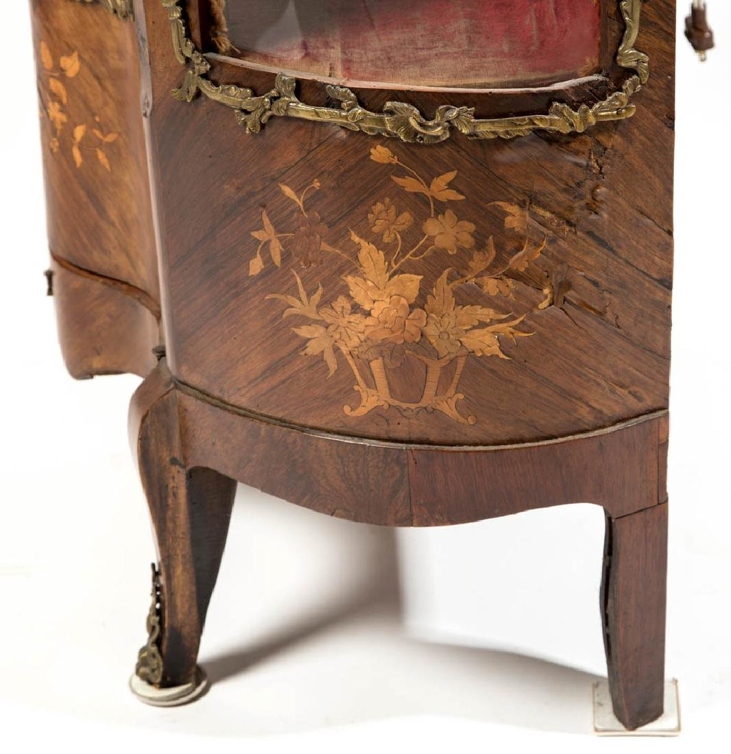 CONTINENTAL LOUIS XV-STYLE MARQUETRY-INLAID CURIO - 6
