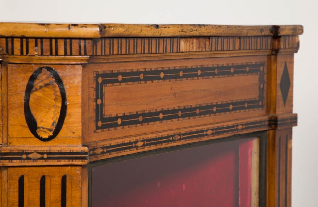 CONTINENTAL BIEDERMEIER-STYLE INLAID SATINWOOD DISPLAY - 3