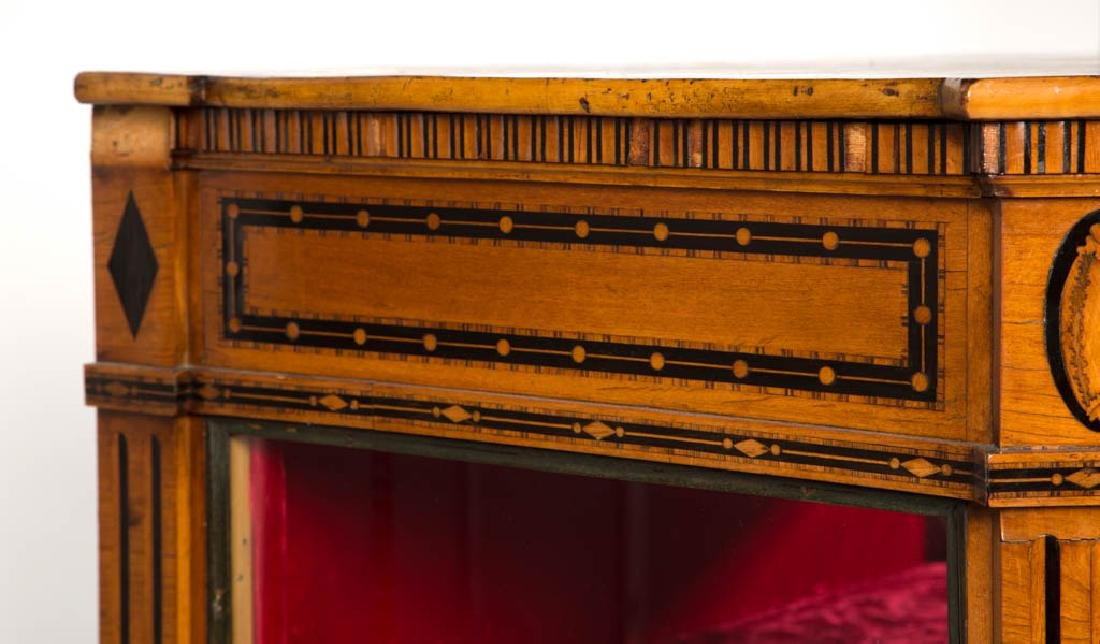 CONTINENTAL BIEDERMEIER-STYLE INLAID SATINWOOD DISPLAY - 4