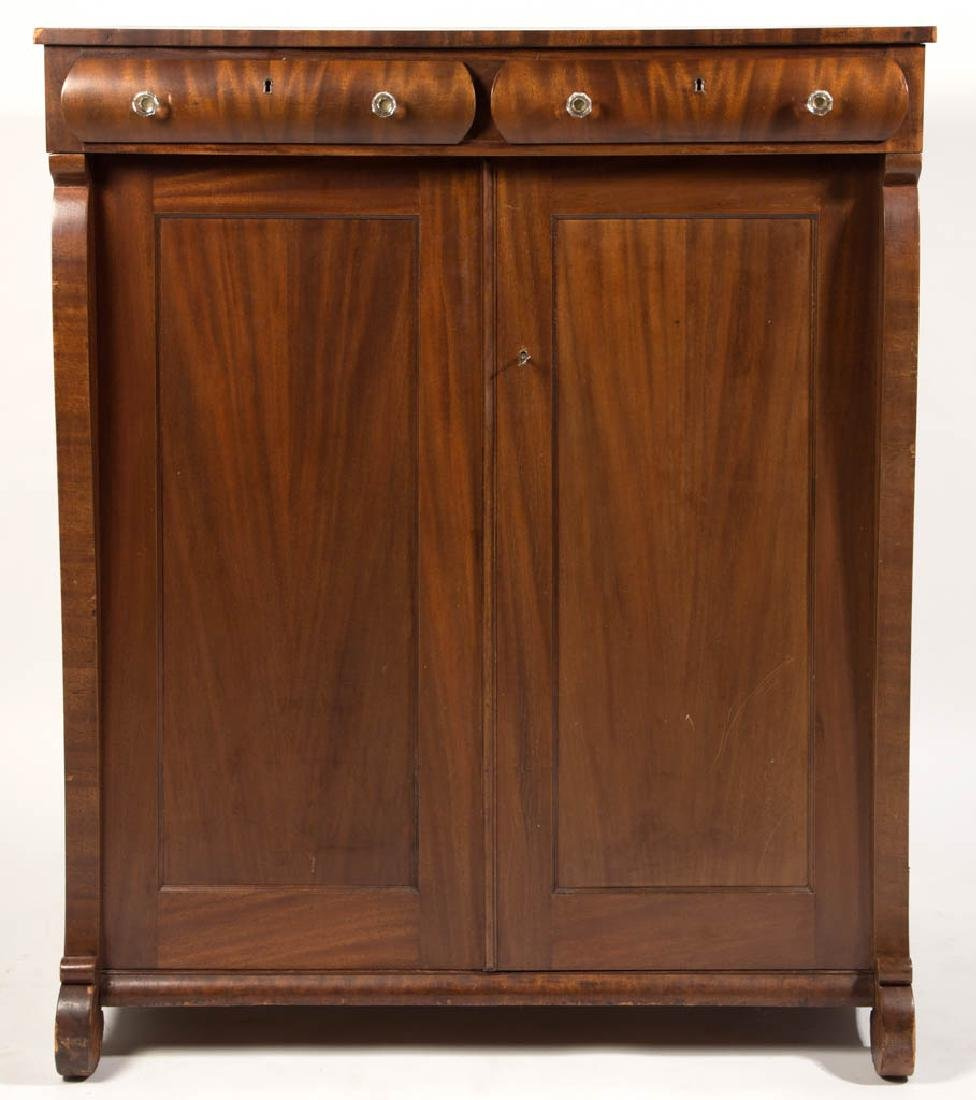 AMERICAN EMPIRE REVIVAL MAHOGANY GENTLEMAN'S DRESSING