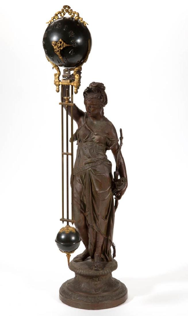 ANSONIA FIGURAL BALL SWING CLOCK