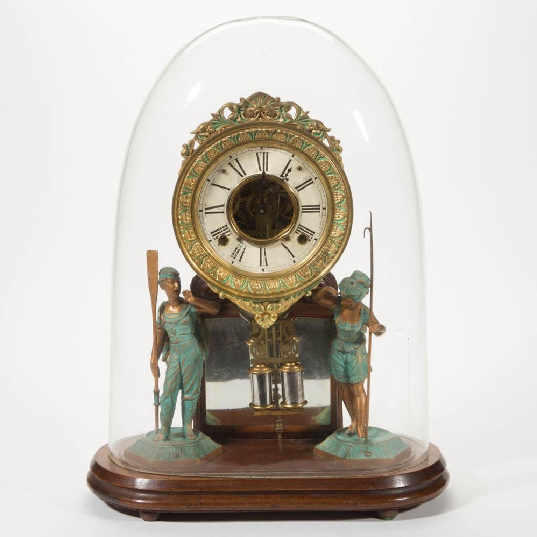 H.J. DAVIES / ANSONIA CRYSTAL PALACE NO. 1 MANTLE CLOCK