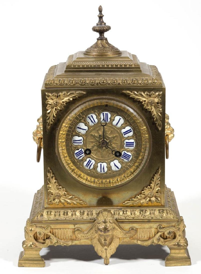 S. MARTI FRENCH BRASS MANTLE CLOCK