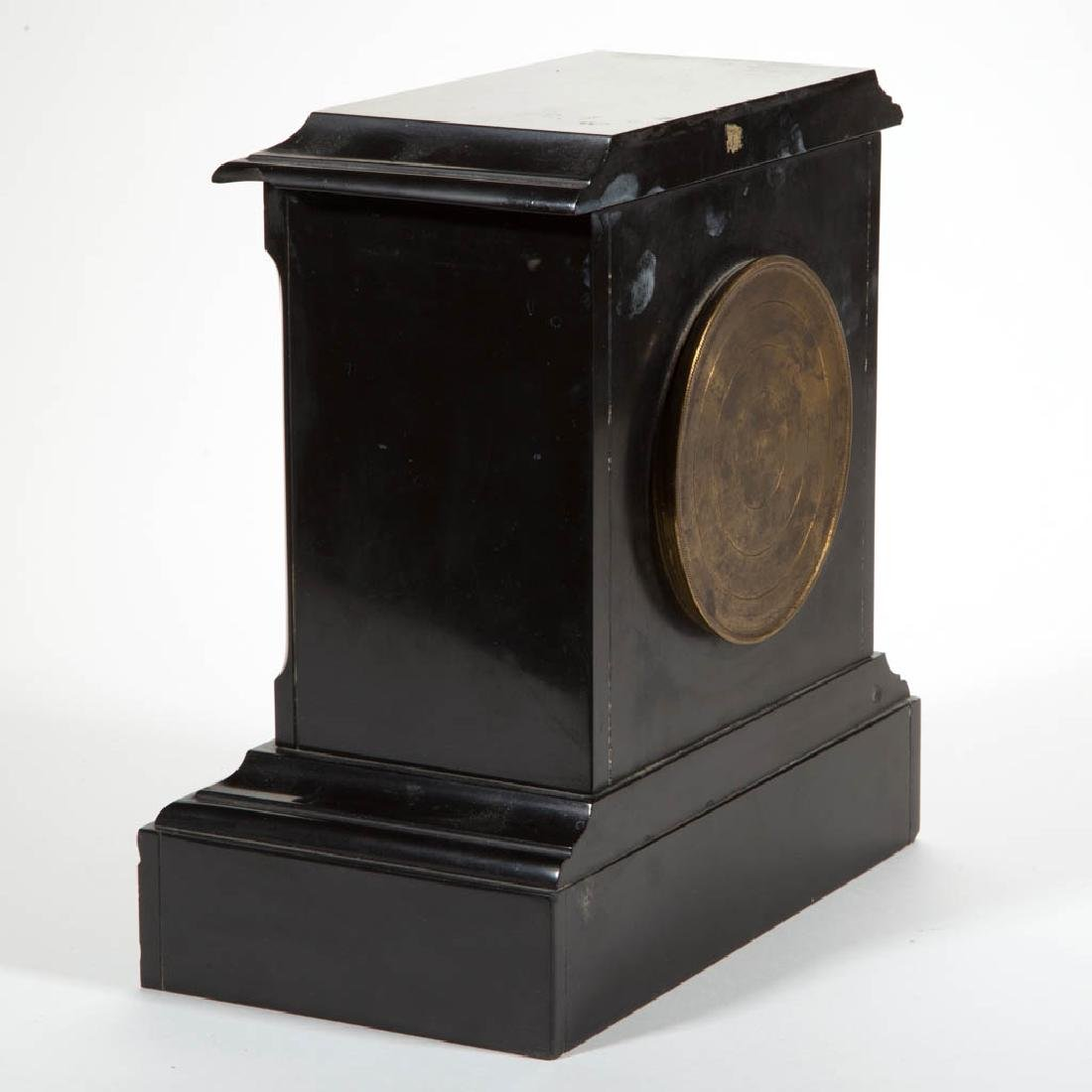 JAPY FRERES FRENCH SLATE MANTLE CLOCK - 2