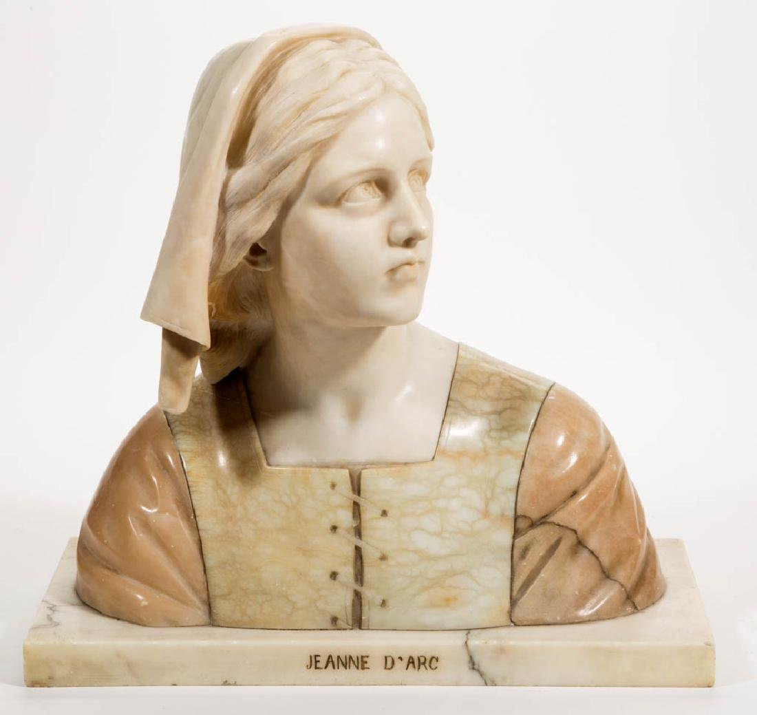 G. BESLI (FRENCH, 1857-1922) CARVED MARBLE AND