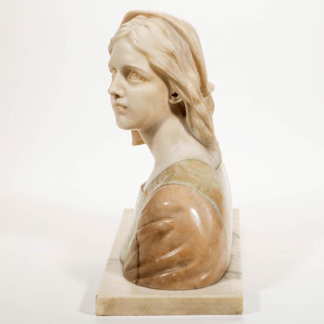 G. BESLI (FRENCH, 1857-1922) CARVED MARBLE AND - 2