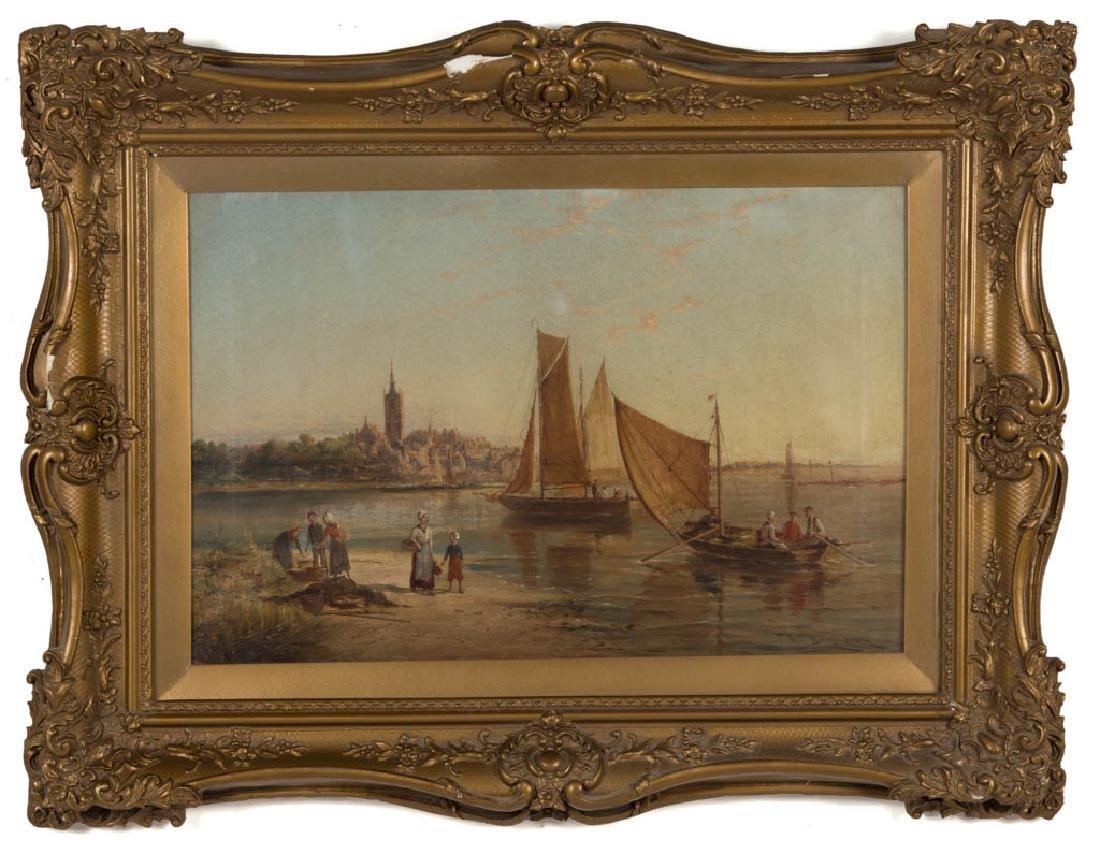 WILLIAM RAYMOND DOMMERSEN (DUTCH, 1850-1927) COASTAL