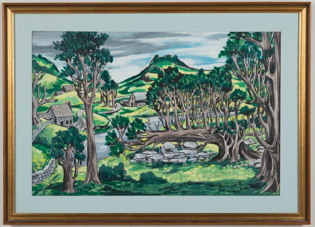 JOHN FRANCIS STENVALL (AMERICAN, 1907-1998) LANDSCAPE