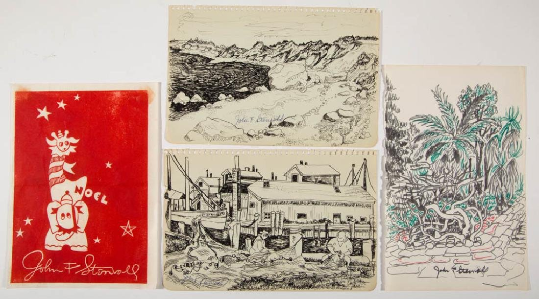 JOHN FRANCIS STENVALL (AMERICAN, 1907-1998) SKETCHES,
