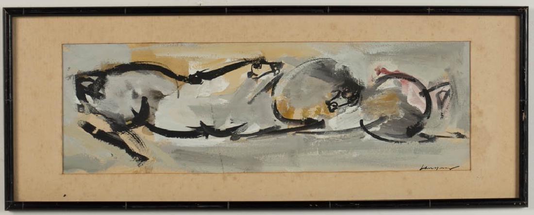 JOHN CHIN YOUNG (HAWAII, 1909-1997) ABSTRACT