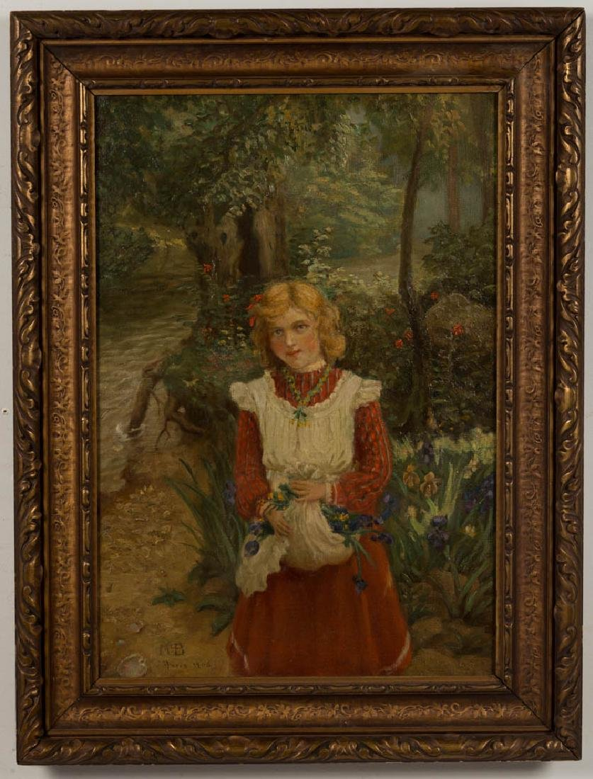 FRENCH SCHOOL (EARLY 20TH CENTURY) PORTRAIT OF A GIRL