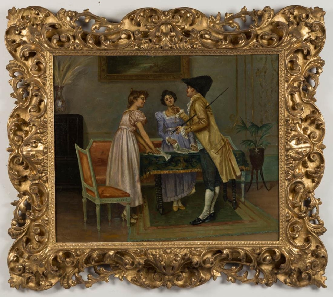 EUROPEAN SCHOOL (19TH CENTURY) GENRE SCENE