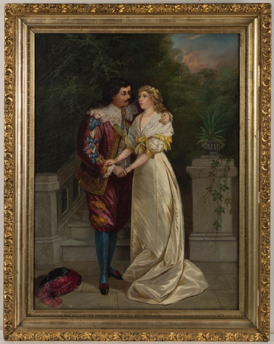 AMERICAN SCHOOL (19TH CENTURY) COURTING SCENE