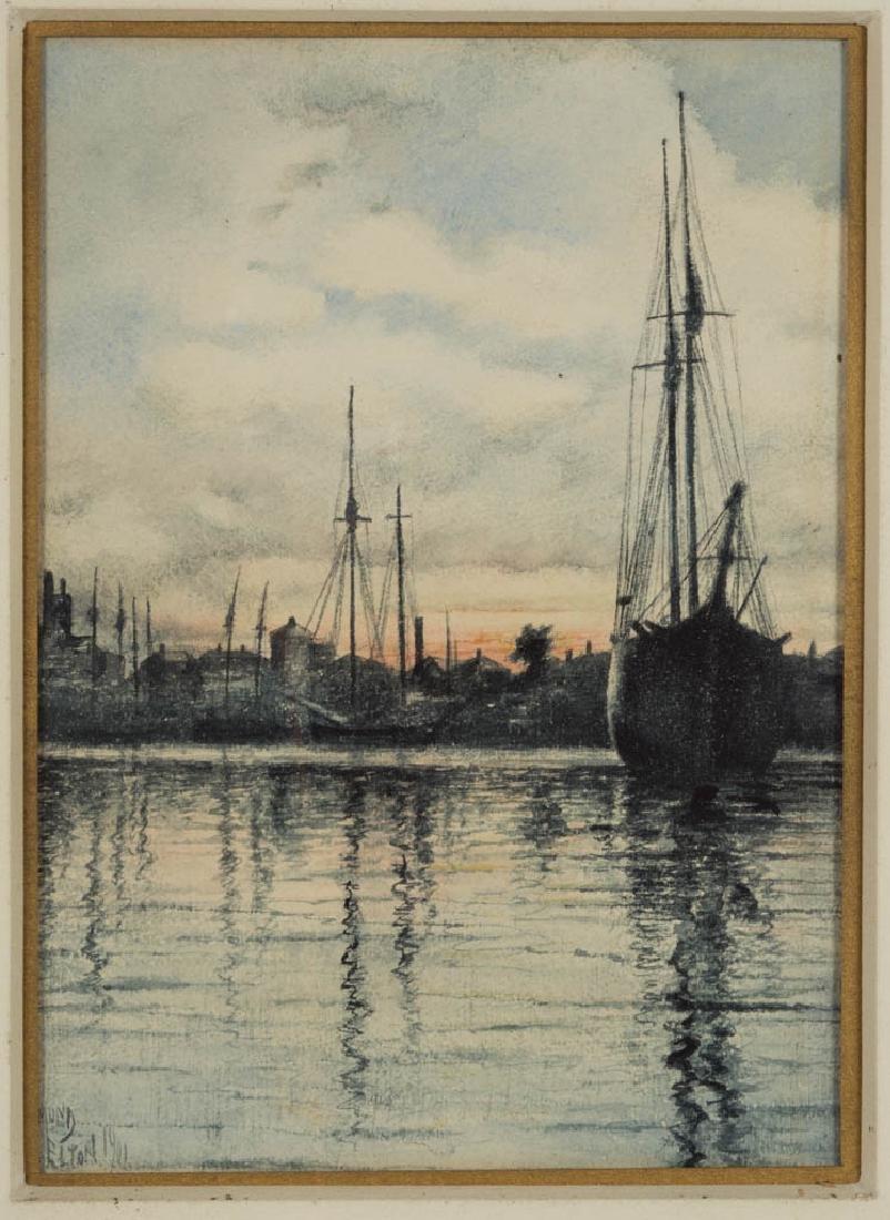 EDMUND HARRY ELTON (BRITISH, 1846-1920) HARBOR SCENE
