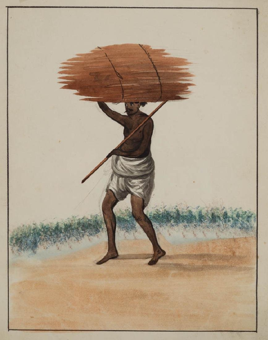 ANGLO-INDIAN SCHOOL (19TH CENTURY) PORTRAIT OF A MAN - 3