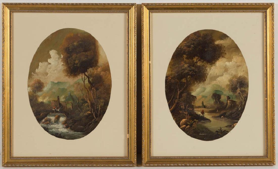 PAIR OF CONTINENTAL SCHOOL (19TH CENTURY) LANDSCAPE