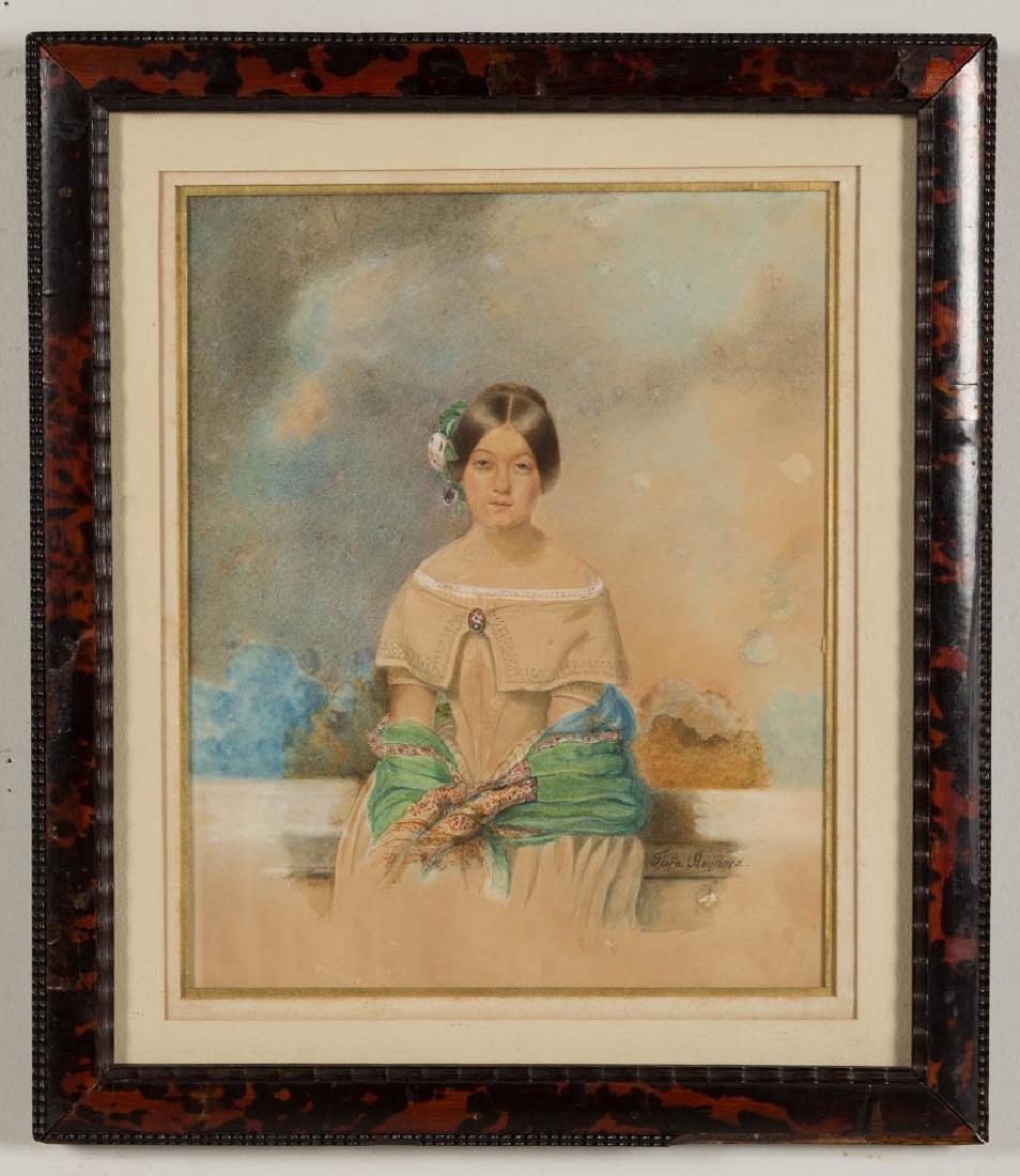 FLORA REYNARD (FRENCH, 19TH CENTURY) PORTRAIT OF A