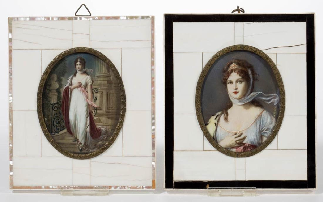 BRITISH OR CONTINENTAL SCHOOL MINIATURE PORTRAITS OF