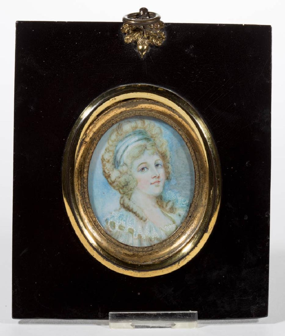 BRITISH OR CONTINENTAL SCHOOL MINIATURE PORTRAIT OF A
