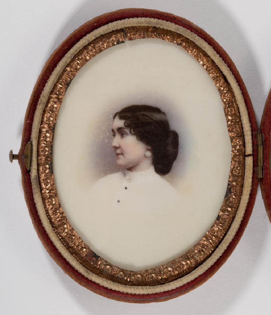 SOUTHERN SCHOOL (19TH CENTURY) MINIATURE PORTRAIT OF A - 2