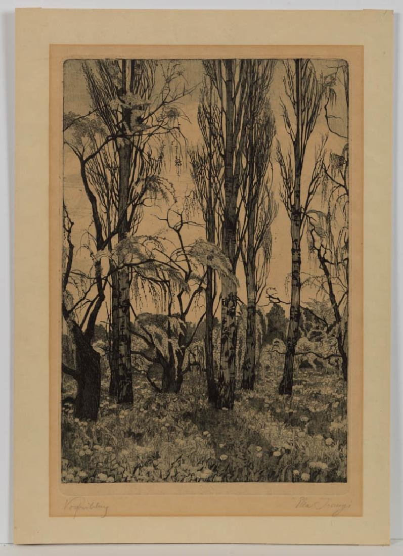 ELLA IRANYI (AUSTRIAN, 1888-1942) LANDSCAPE ETCHING