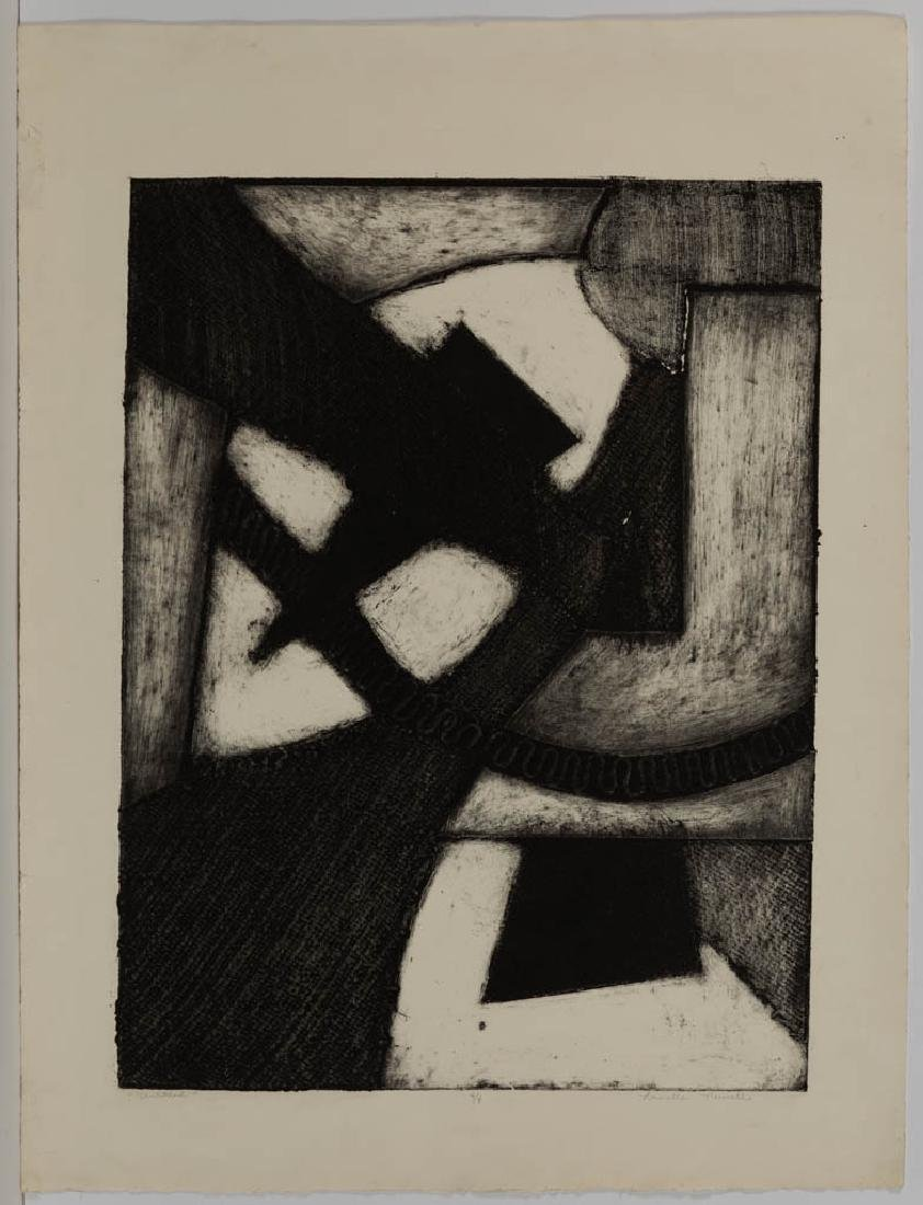ASSORTED ABSTRACT ETCHINGS, LOT OF THREE