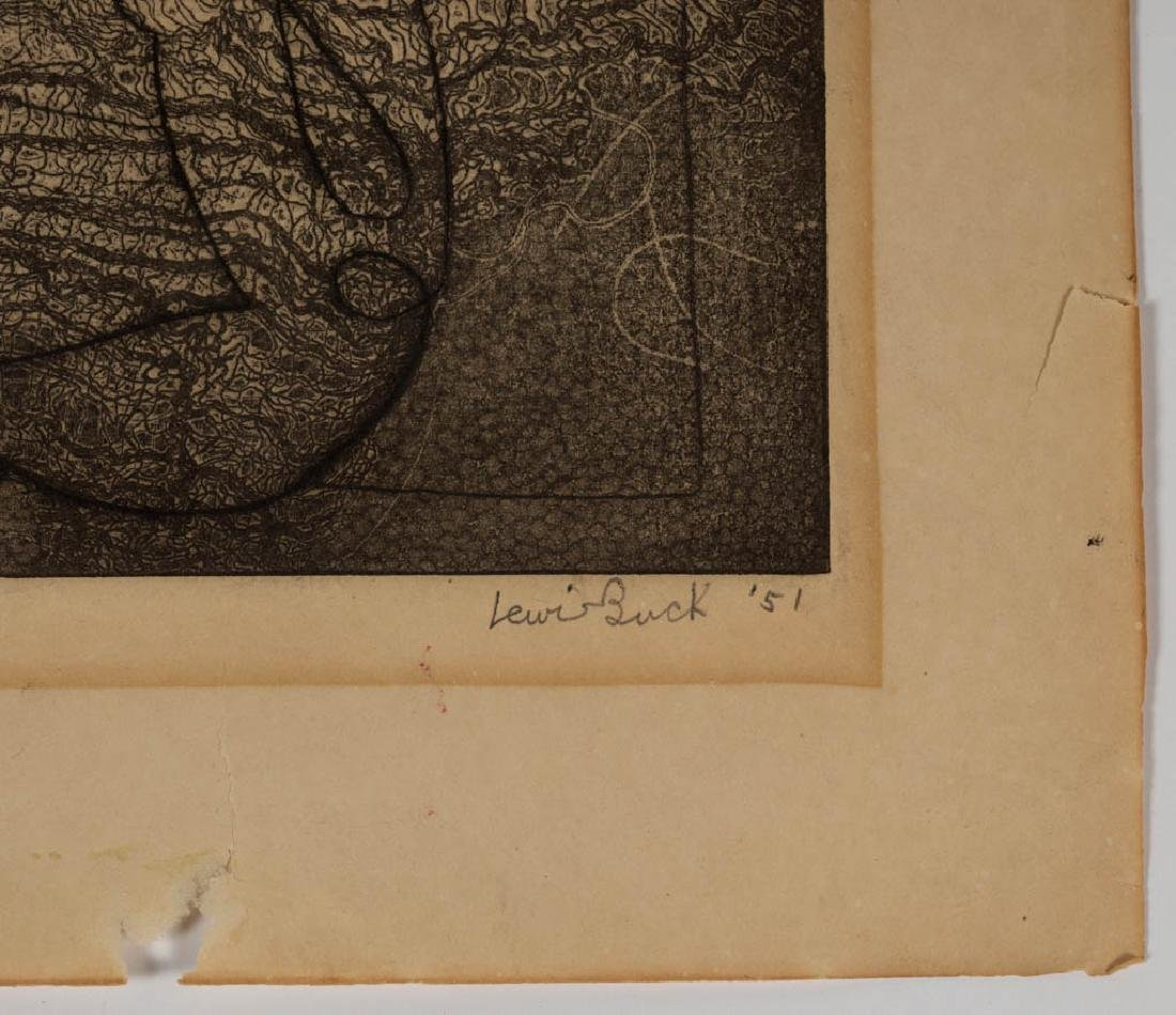ASSORTED ABSTRACT ETCHINGS, LOT OF THREE - 7