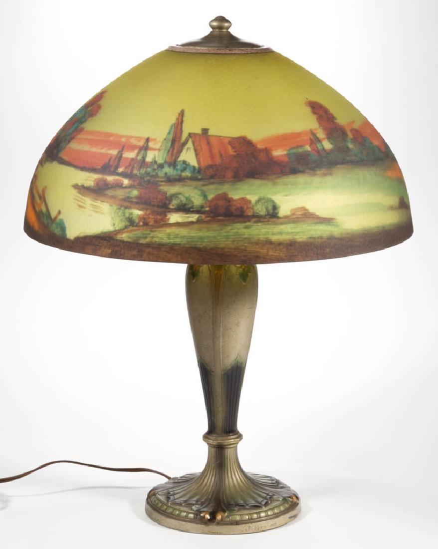 JEFFERSON REVERSE-PAINTED LANDSCAPE TABLE LAMP