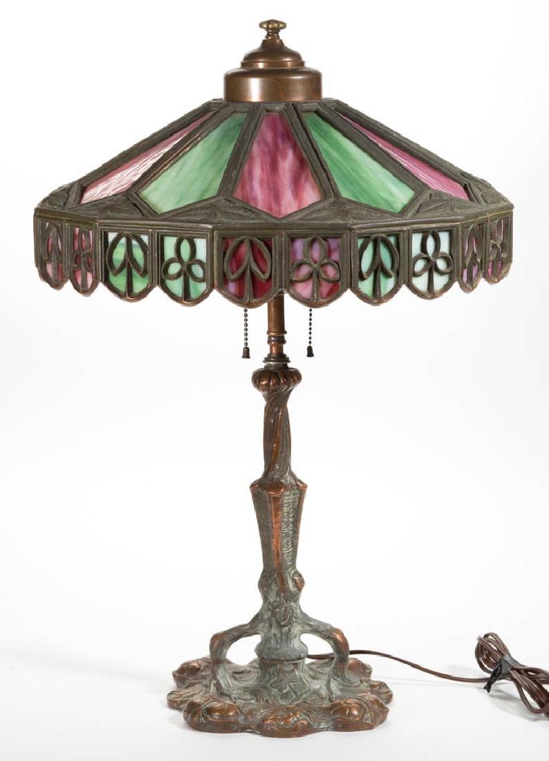 PITTSBURGH BRONZE FIGURAL STUMP LAMP BASE